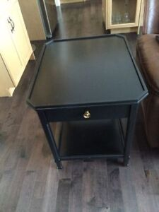 Black Martha Stewart End table or Night stand with drawer & stor