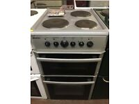 Silver 50cm double oven with grill electric immaculate reliable with warranty