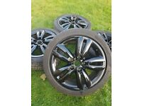 "17"" BMW Mini JCW Track Spoke 562 Alloy Wheels & Tyres F55 F56 F57 Twin 5 Spoke"
