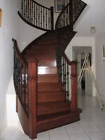 Hardwood Floor: $1.25/SF; Laminate Floor: $1.00/SF – Staircase !