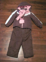 Winter Jacket and snow pants for 2 year old girl