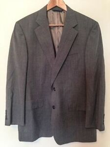 BROOKS BROTHERS Men's 43R Sage Green Wool 2 Button Full Suit
