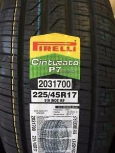 4 Brand New Pirelli Cinturato P7 225/45R17 All Season Tires Runflats *** WallToWallTires.com ***