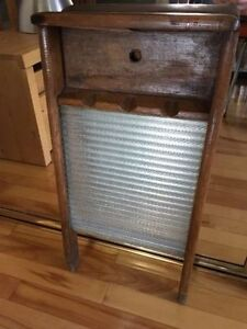 Glass Antique Washboard with Wooden Frame - $20 OBO