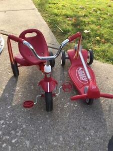 Radio flyer trike and scooter