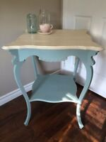 Chalk Painted Antique Table