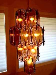 2 RUSTIC HIGH END CHANDELIER LIGHT FIXTURE with Bulbs