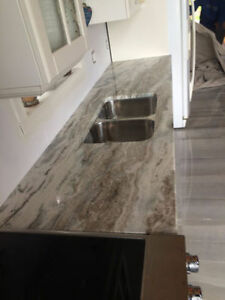Granite Fantasy Brown @ QuebecKitchens.ca, Happy Customer West Island Greater Montréal image 3