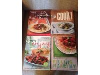 8 cook books from Weight Watchers in good used condition