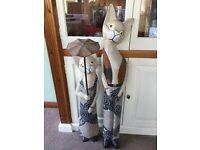 Pair of Retro wooden cats
