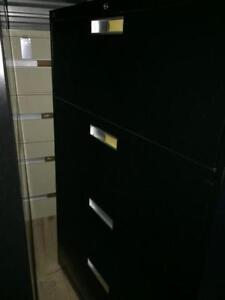 4 Drawer Lateral File Cabinets Black, Matching