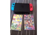 Nintendo Switch Neon + 2 Games