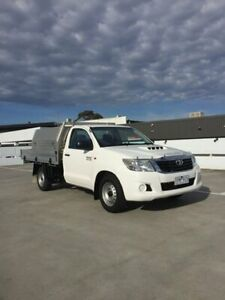 2015 Toyota Hilux White Manual Cab Chassis Mount Eliza Mornington Peninsula Preview