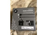 Goji Mains Phone Charger For Iphone 5/6, Ipod & Ipad Brand New