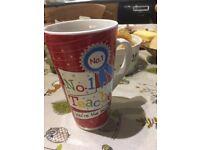 Tall mug for a teacher