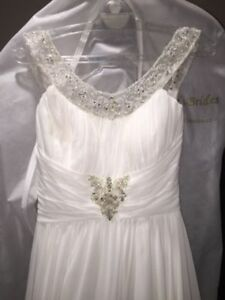 MORI LEE CHIFFON WEDDING DRESS