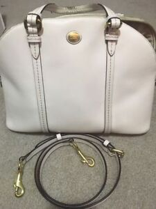 Used white Coach Purse