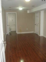Basement apartment with a large bedroom