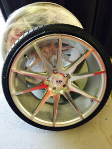 "20"" SAVINI FORGED WHEELS AND TIRES! - LIKE NEW!"