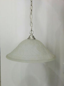 White Chandelier - New from Builder.