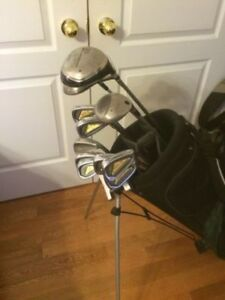 MENS LADIES GOLF CLUBS, LEFT OR RIGHT, PUTTER IRONS DRIVERS BAG