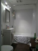 5½ tout blanc propre, quartier branché, libre