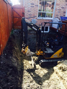 Excavating, Mini Excavators for Hire We do it all at Best Prices