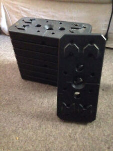 8x10 lbs weighs and threaded bar