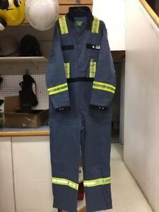 POSTMAN / NAVY STRIPED COVERALLS, BRAND NEW