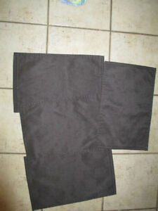4 black placemats in excellent condition and others
