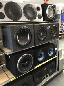 Grande vente de liquidation audio auto Sub, Speaker, Radio!!!!