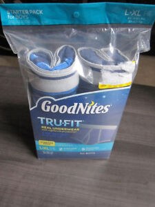 Boys GOODNITES Tru Fit Starter Pack..L-XL (60 - 100 lbs)BNIP