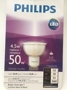 Unopened box Philip GU10 LED Dimmable ($6)
