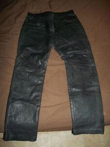 pantalon de cuir pour homme de moto gr 36