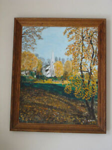 Original Oil Painting on Board Signed