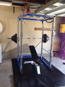 Commercial Power Rack / Cage, Bench, Olympic Weight, Bar
