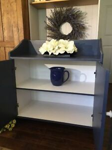 """Painted Pine Hutch ~""""The Painted Dresser Fall River"""""""