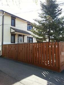 Newly renovated large 1 bdrm with fenced yard – in duplex