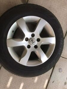 16' Nissan Altima alloy rims with bridgestone turanza el 400all