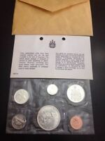 1965 Canada SILVER COIN set in its original yellow envelope