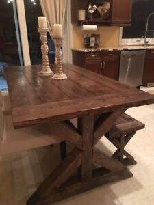Farm Trestle Table and Bench - choose size and color!
