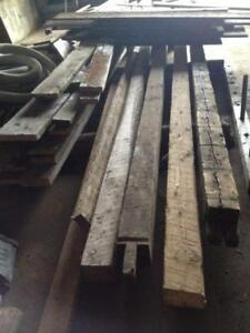 "rough sawn 6""x6"", 7""x7"" antique barn beams"
