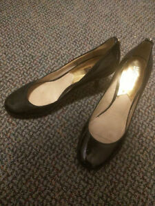 Black Women's Patent Leather Heels, Size 9.5