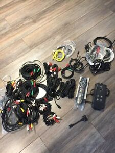Rogers remote with assortment of cables