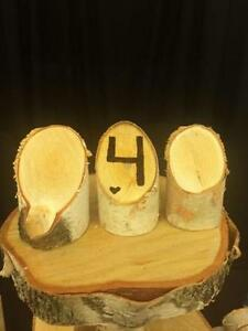 Rustic Wedding Decor: Birch Diagonal Table Numbers!