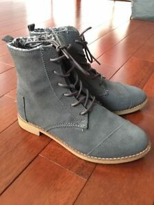 Suede TOMS Ankle Booties