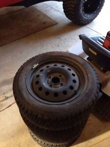 15 inch winter tires for sale- used Kitchener / Waterloo Kitchener Area image 1
