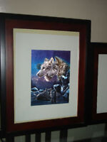 Set of 3 Wolf pictures Xmas gift idea