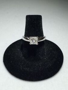 1.00CT PRINCESS CUT DIAMOND ENGAGEMENT RING ON SALE !!!!!