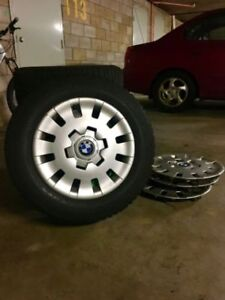 BMW winter rims+tires+hubcaps E39 5 series